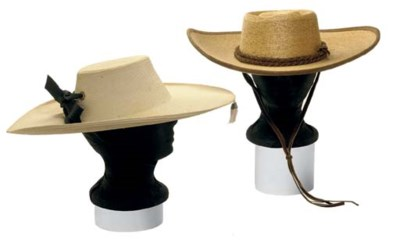 A STRAW HAT AND A SOMBRERO