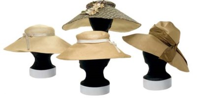 THREE CHRISTIAN DIOR STRAW HAT