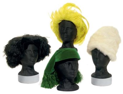 FOUR CHRISTIAN DIOR HATS