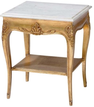 A LOUIS XV STYLE GILTWOOD OCCA