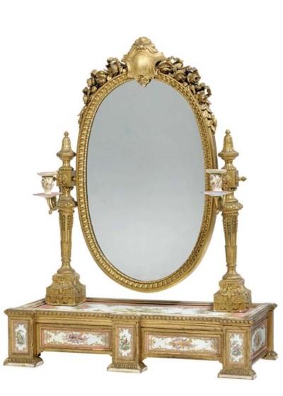A Napoleon III ormolu, giltwoo