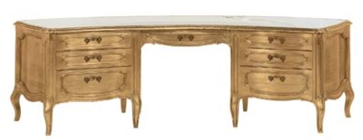 A LOUIS XV STYLE GILTWOOD DRES