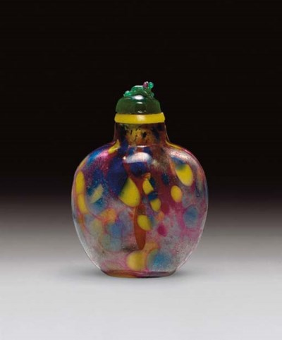 **A SANDWICHED SPECKLED GLASS