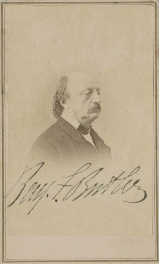 BUTLER Benjamin Franklin 1818 1893 Union General Congressman Governor Carte De Visite Photograph Signed Benj F Butler By Alexander Gardner