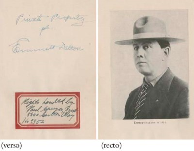 DALTON, Emmet (1871-1937). Hal