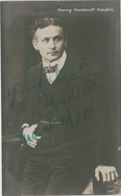 HOUDINI, Harry (Erich WEISS),