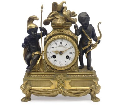 A FRENCH ORMOLU AND PARCEL-GIL