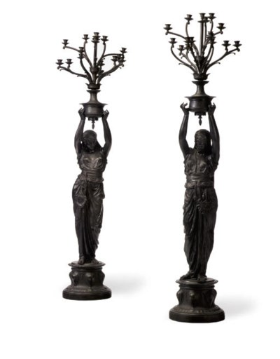 A PAIR OF FRENCH ORIENTALIST P