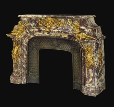 A FRENCH ORMOLU-MOUNTED BRECHE