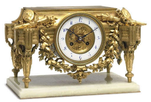 A Napoleon III ormolu clock ba