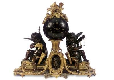 A NAPOLEON III ORMOLU AND BRON