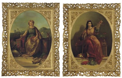 A PAIR OF FRENCH PAINTINGS ON