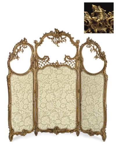 A LOUIS XV STYLE GILTWOOD THRE