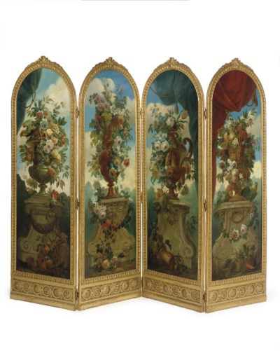 A LOUIS XVI STYLE GILTWOOD AND