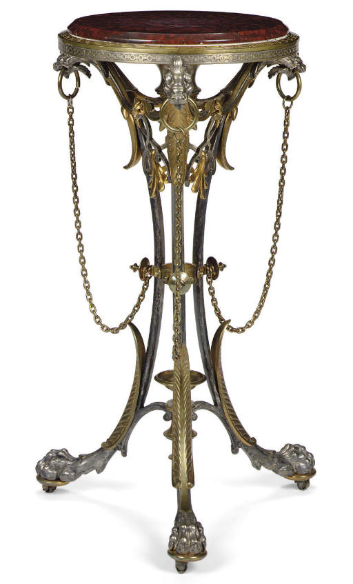 A FRENCH PARCEL-GILT AND SILVE