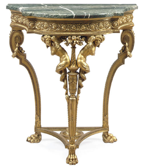 A FRENCH GILTWOOD CONSOLE