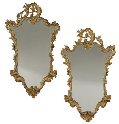 A PAIR OF ROCOCO STYLE GILTWOO