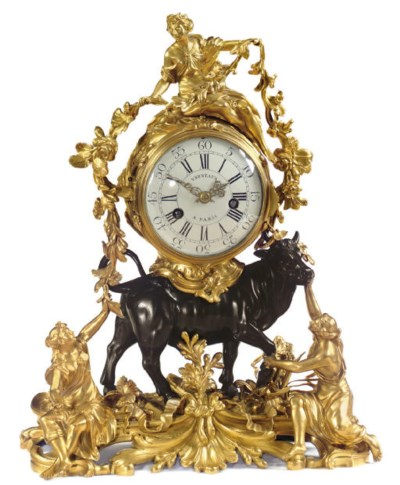 A LOUIS XV STYLE ORMOLU AND BR