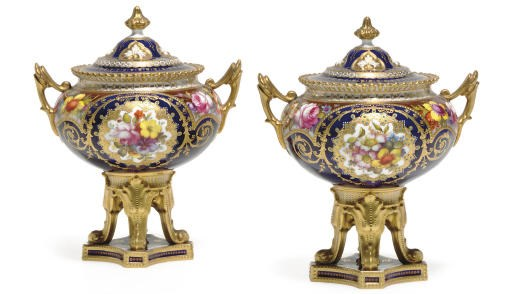 A PAIR OF ROYAL CROWN DERBY 'J