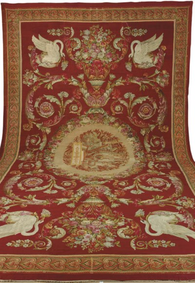 AN EMPIRE AUBUSSON CARPET