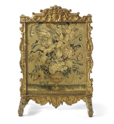 A LOUIS XIV GILTWOOD AND AUBUS
