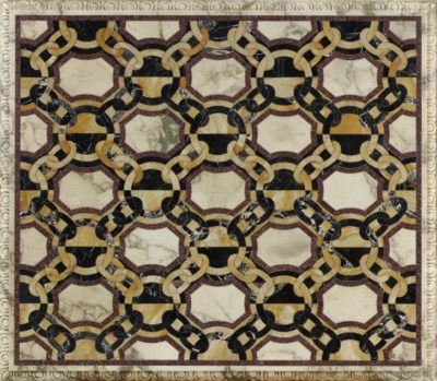 A SOUTH ITALIAN INLAID MARBLE