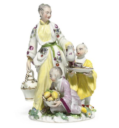 A MEISSEN GROUP OF A JAPANESE