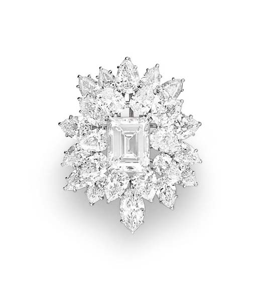 A DIAMOND BROOCH, BY HARRY WINSTON