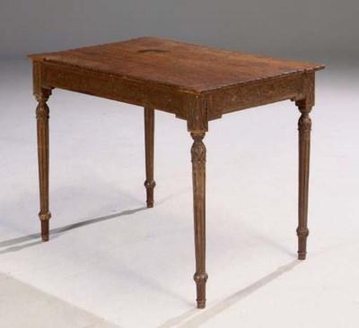 TABLE DE LA FIN DU XVIIIEME SI