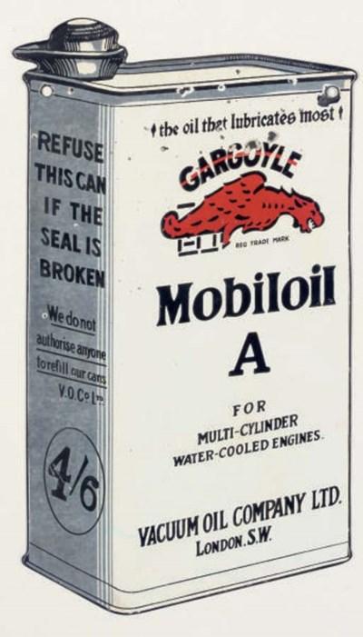 Mobiloil; une plaque émaillée