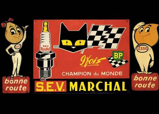 SEV Marchal et Esso; une plaqu