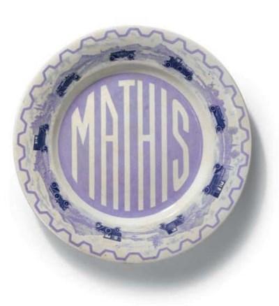 Mathis; une assiette publicita
