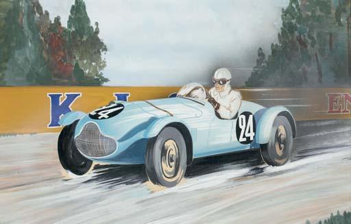 Talbot-Lago; une aquarelle non