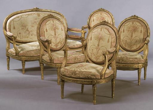mobilier de salon de style louis xvi d 39 epoque napoleon iii christie 39 s. Black Bedroom Furniture Sets. Home Design Ideas