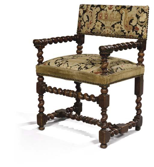 chaise a bras d 39 epoque louis xiii travail d 39 ile de. Black Bedroom Furniture Sets. Home Design Ideas