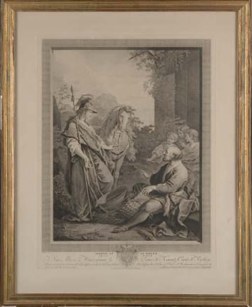 Herminie et le Berger par Carlo-Antonio Porporati