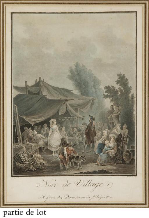 Foire de Village et Noce de Village par Charles Melchior Descourtis (Le Blanc 4 et 5)