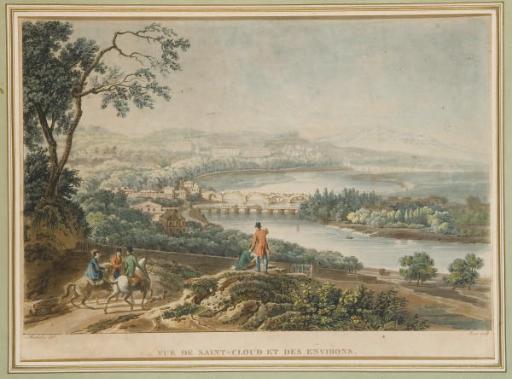 Vue de Saint-Cloud et des Environs par Jean-Pierre-Marie Jazet