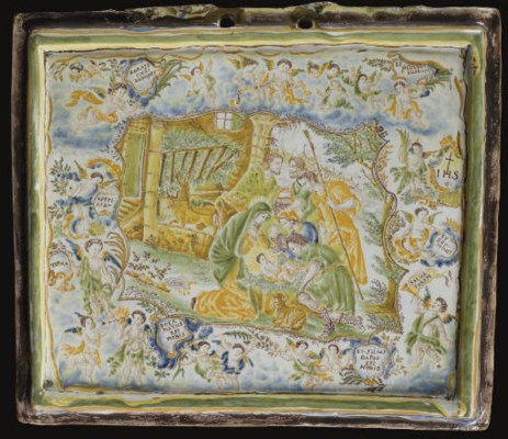 PLAQUE EN FAIENCE DE MOUSTIERS