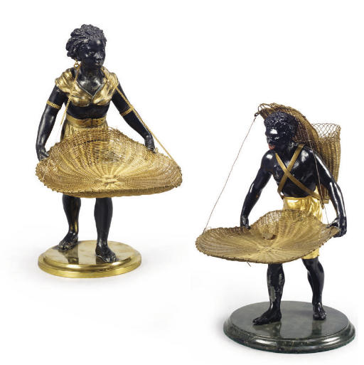 COUPLE DE FIGURES DE MAURES PO