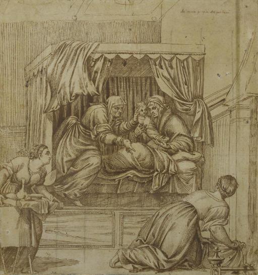 ATTRIBUE A DOMENICO CAMPAGNOLA (VENISE 1500-1564 PADOUE)