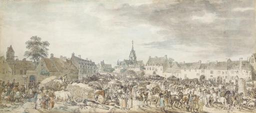 La place du marché d'une ville du nord