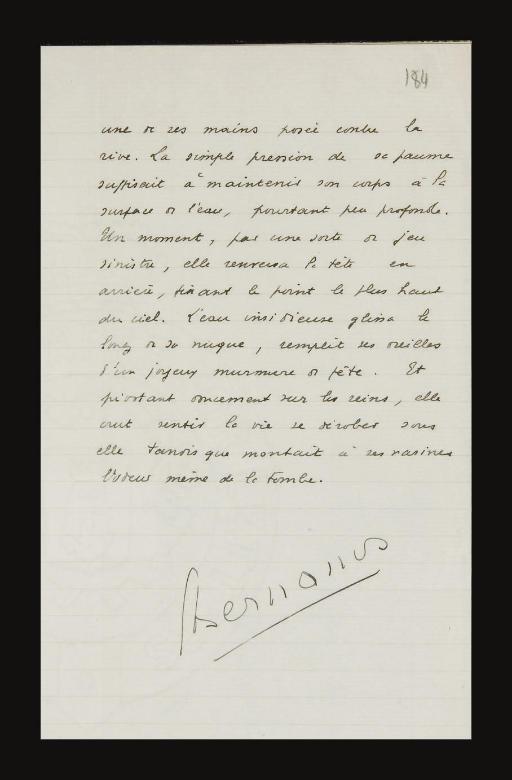 BERNANOS, Georges (1888-1948). Nouvelle histoire de Mouchette. Manuscrit autographe signé, sans date [entre 1936-1937].