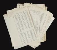 BERNANOS, Georges (1888-1948). Un Crime. -- Un Mauvais rêve. Manuscrits autographes, non signés. Sans date (entre 1931-1935).