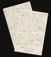BAUDELAIRE, Charles (1821-1867). Lettre autographe signée à Arsène Houssaye. 15 mai 1862.