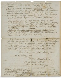 "BAUDELAIRE, Charles (1821-1867). Lettre autographe, signée ""Charles"