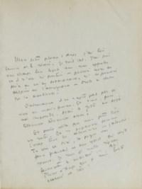 SAINT-EXUPÉRY, Antoine de (1900-1944). Vol sur Arras. Tapuscrit original. S.d. [vers 1941].