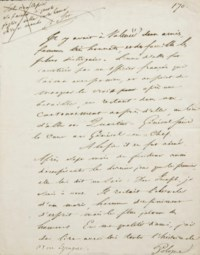 STENDHAL, Henri Beyle dit (1783-1842). Manuscrit autographe, non signé.