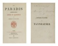BAUDELAIRE, Charles (1821-1867). Richard Wagner et Tannhauser à Paris. Paris: Dentu, 1861. [Suivi de:] --Les Paradis artificiels. Opium et haschisch. Paris: Poulet-Malassis, 1861.