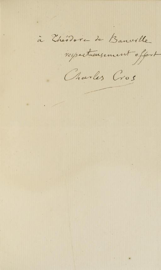 CROS, Charles (1842-1888). Le Coffret de Santal. Paris: Alphonse Lemerre; Nice: J. Gay et fils, 1873.